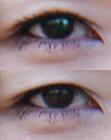 目のリタッチ